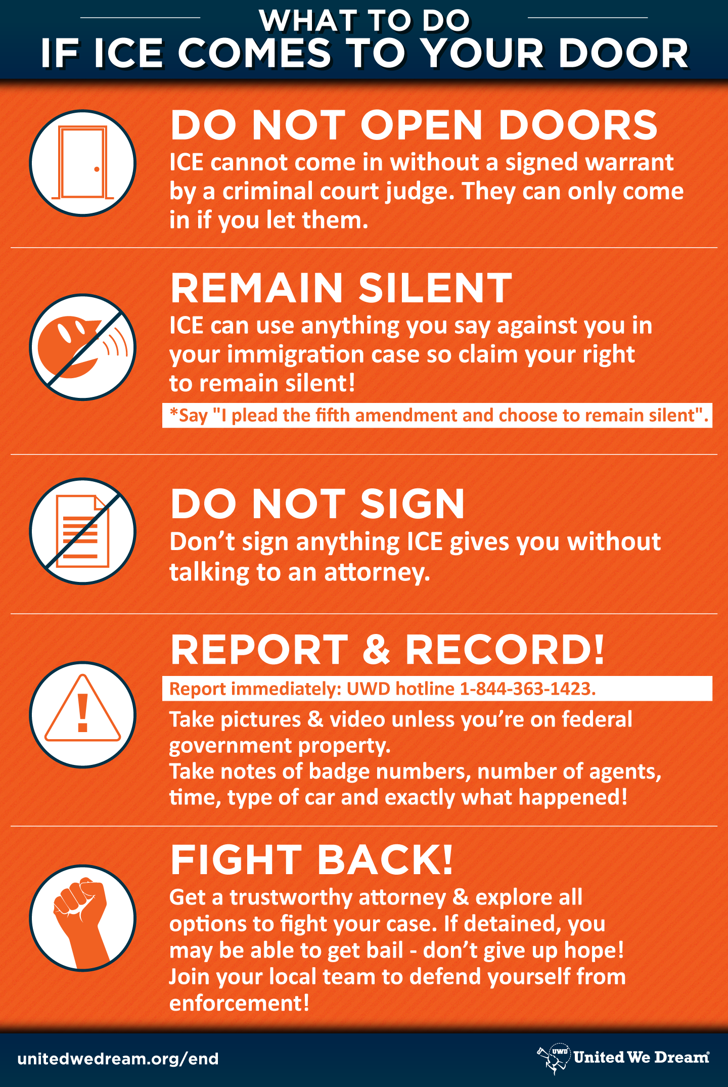 Know Your Rights in Times of Raids