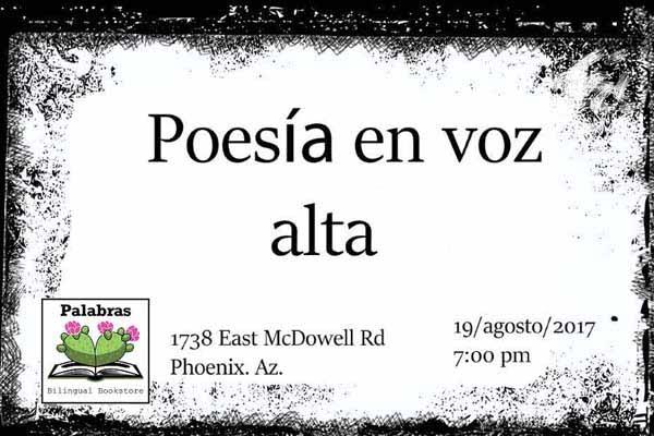 Poetry– Poesía en voz alta