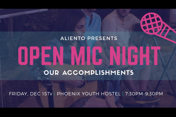 Artivism – Aliento Open Mic Night